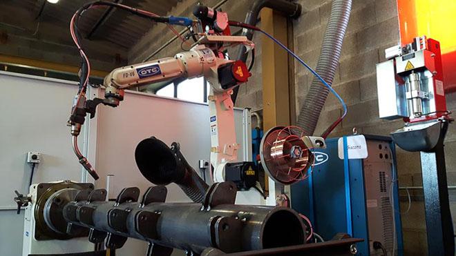 isola di saldatura robotizzata per rotori trincia denominata Giacomo